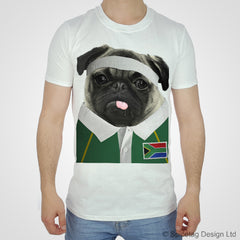 South Africa Rugby Pug T-shirt