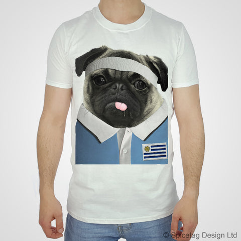 Uruguay Rugby Pug T-shirt
