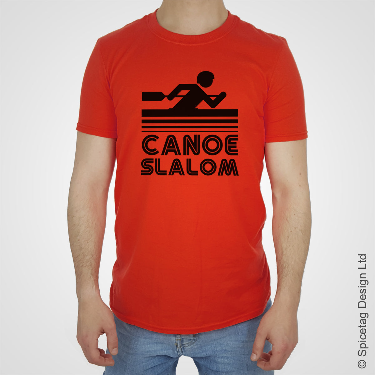 Canoe slalom T-shirt canoeing Tshirt T shirt Tee clothing clothes fashion style sport sports fan olympics athletics track field health fitness world competition champion