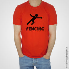 Fencing sword T-shirt Tshirt T shirt Tee clothing clothes fashion style sport sports fan olympics athletics track field health fitness world competition champion