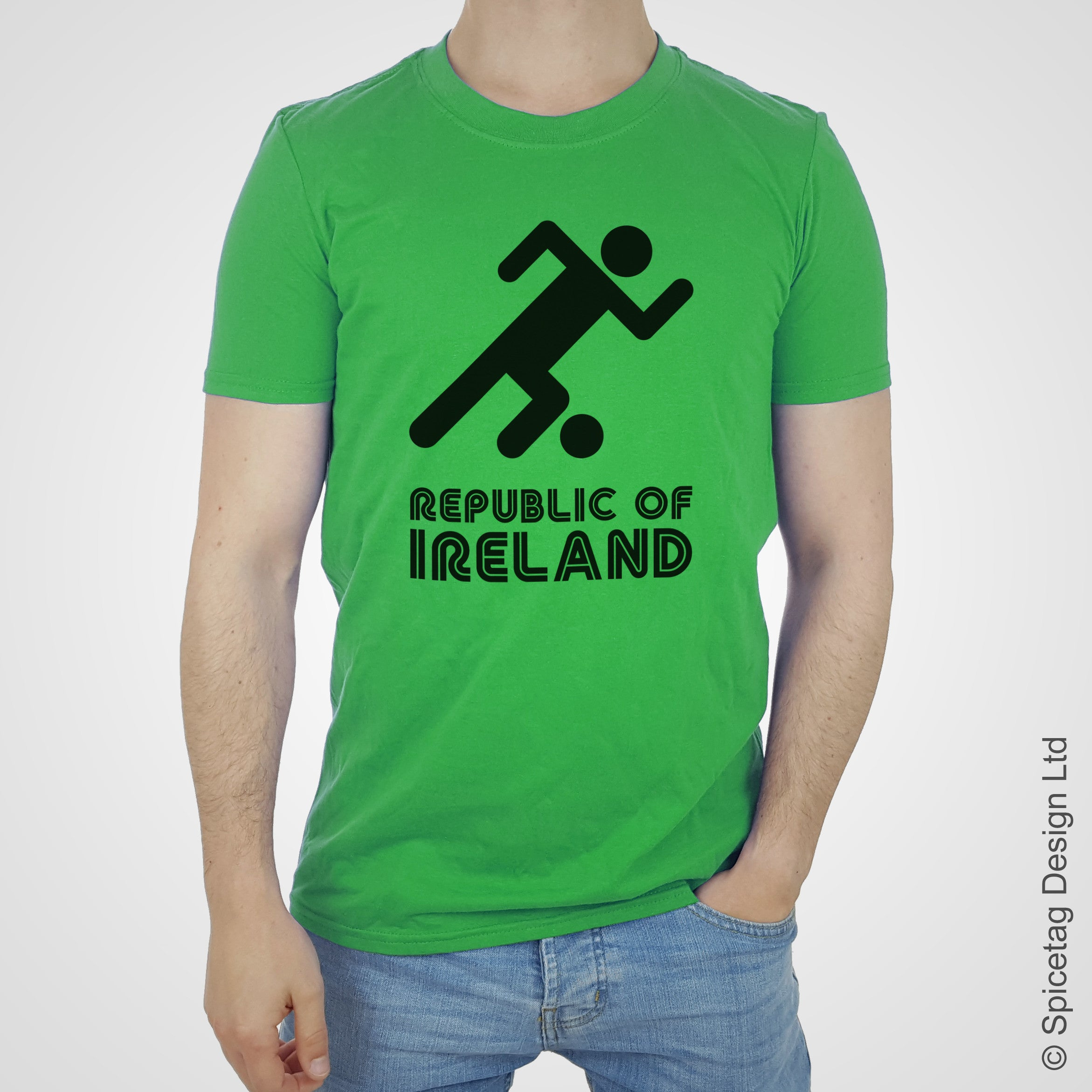 Republic Of Ireland Retro Football T-shirt