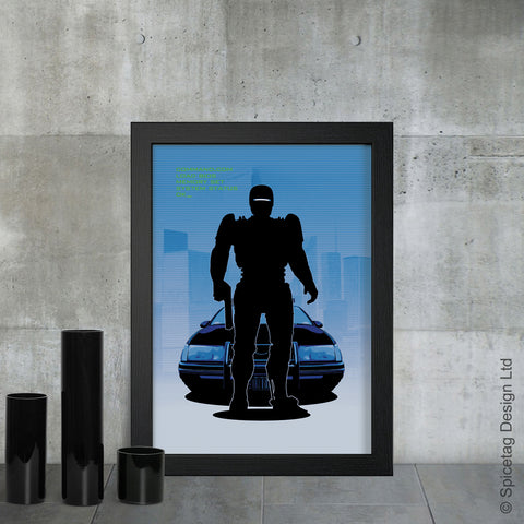 Robocop alex murphy peter weller robot cop 80s action ed209 violence 1980s 1987 sci fi film movie poster art print frame picture photo