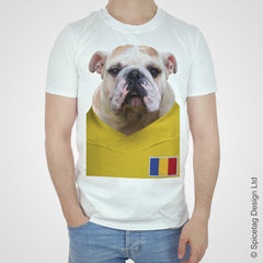 Romania Football Bulldog T-shirt