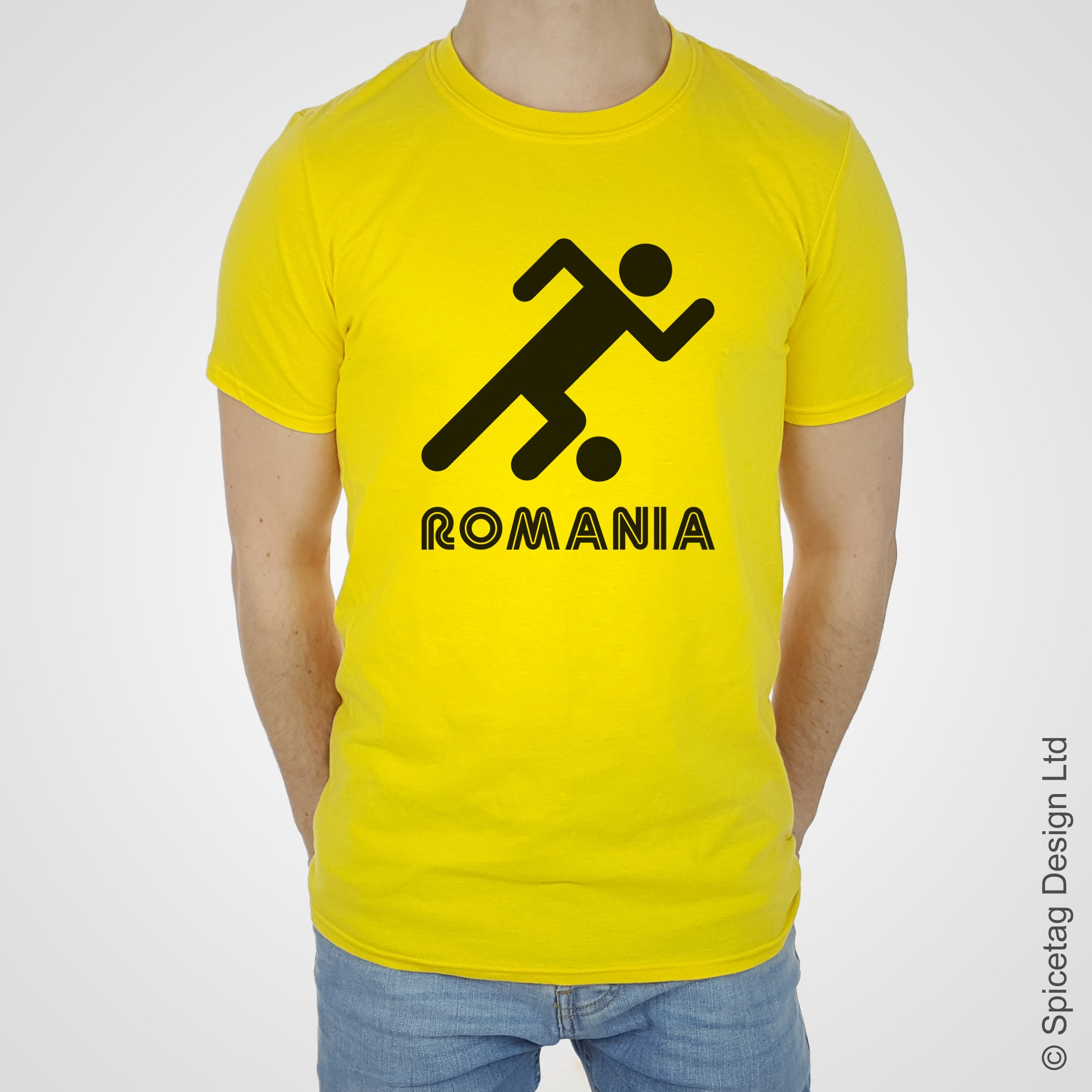 Romania Retro Football T-shirt