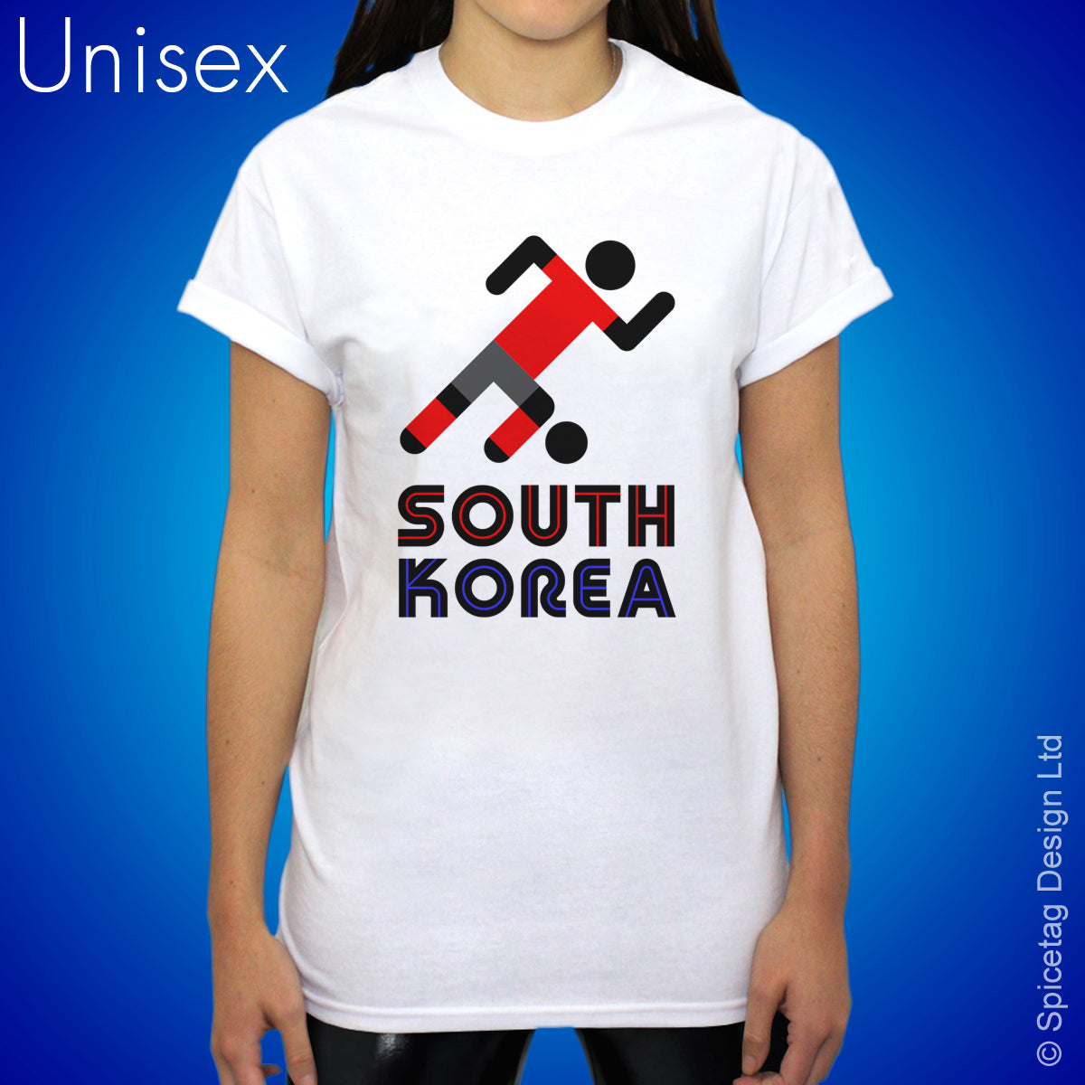 South Korea Retro Football T-shirt