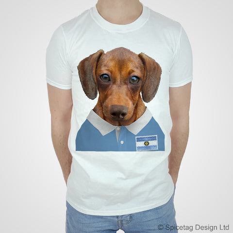 Argentina Rugby Sausage Dog T-shirt