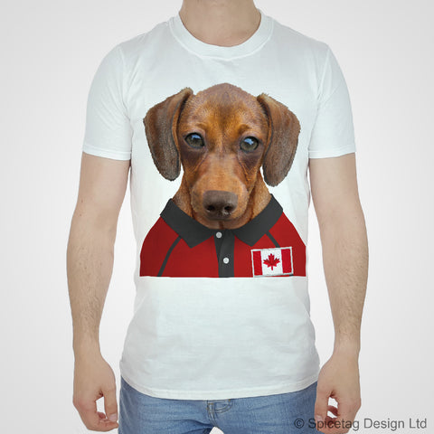 Canada Rugby Sausage Dog T-shirt