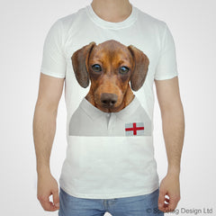 England Rugby Sausage Dog T-shirt