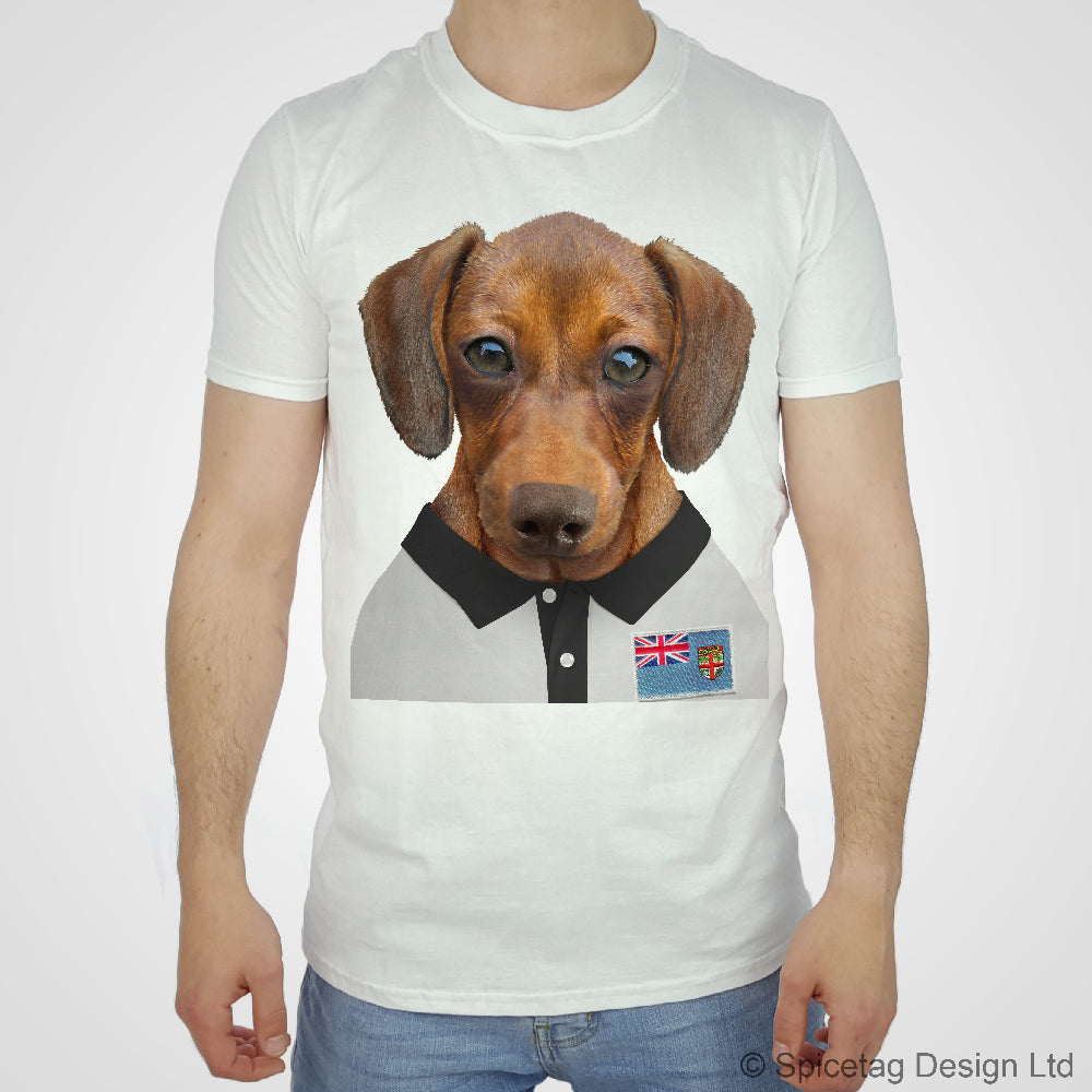Rugby Shirt For Dog: Fiji Rugby Sausage Dog T-shirt