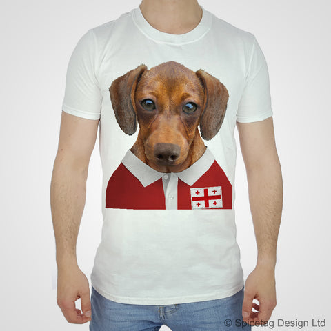 Georgia Rugby Sausage Dog T-shirt