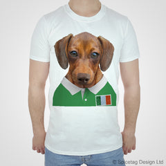 Ireland Rugby Sausage Dog T-shirt