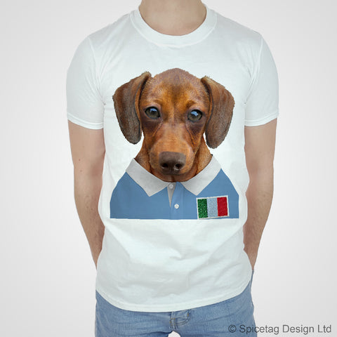 Italy Rugby Sausage Dog T-shirt