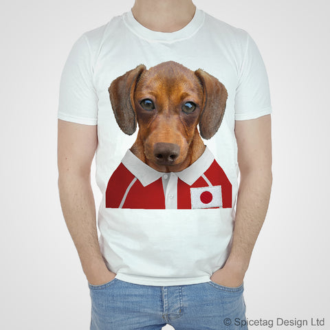 Japan Rugby Sausage Dog T-shirt