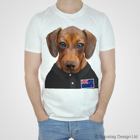 New Zealand Rugby Sausage Dog T-shirt