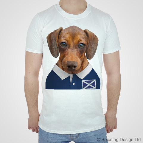 Scotland Rugby Sausage Dog T-shirt