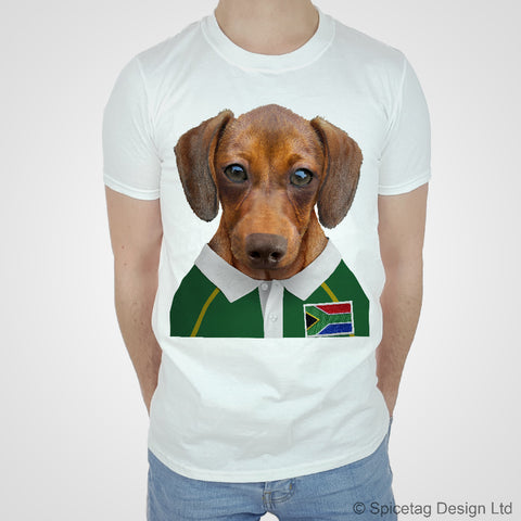 South Africa Rugby Sausage Dog T-shirt