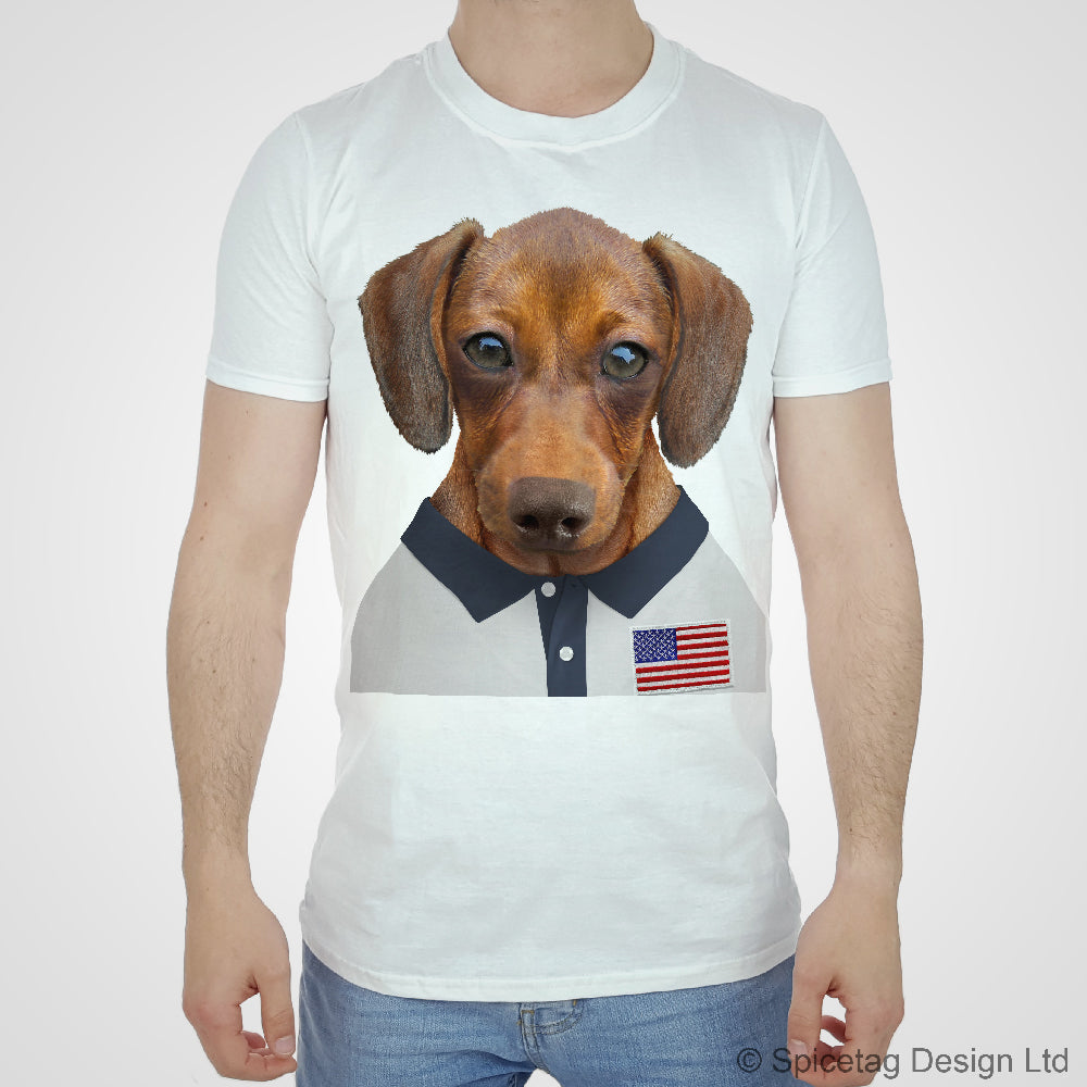 USA Rugby Sausage Dog T-shirt