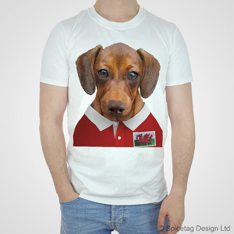 Wales Rugby Sausage Dog T-shirt
