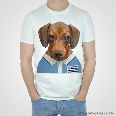 Uruaguay Rugby Sausage Dog T-shirt