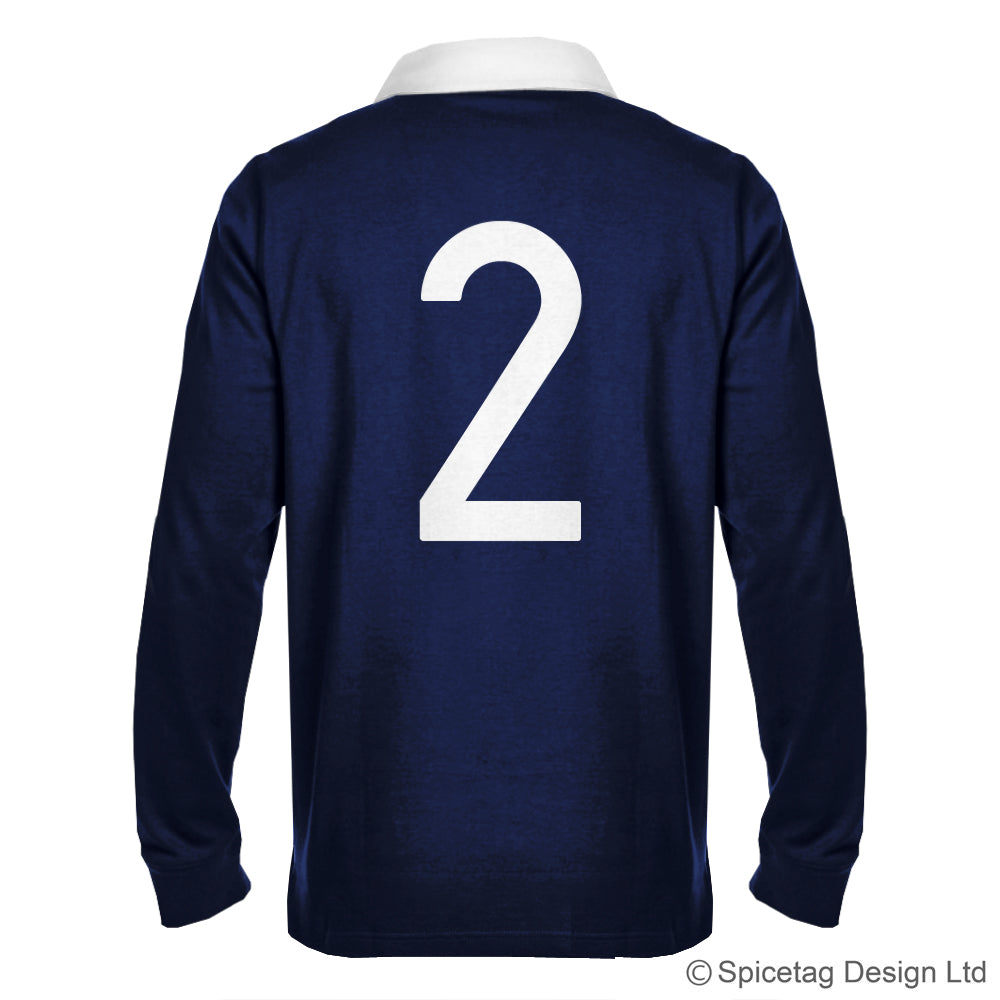 Scotland Scottish Navy Blue 6 six nations rugby sweater sweatshirt top kit jumper jersey retro 70s 80s spicetag