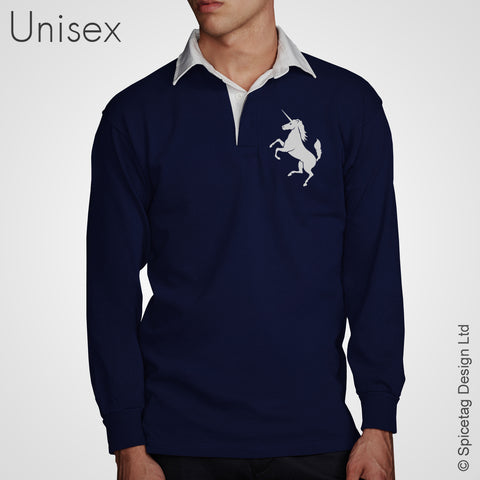 Retro Navy Scotland Rugby Jersey