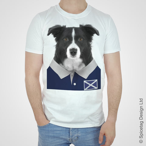 Scotland Rugby Border Collie T-shirt