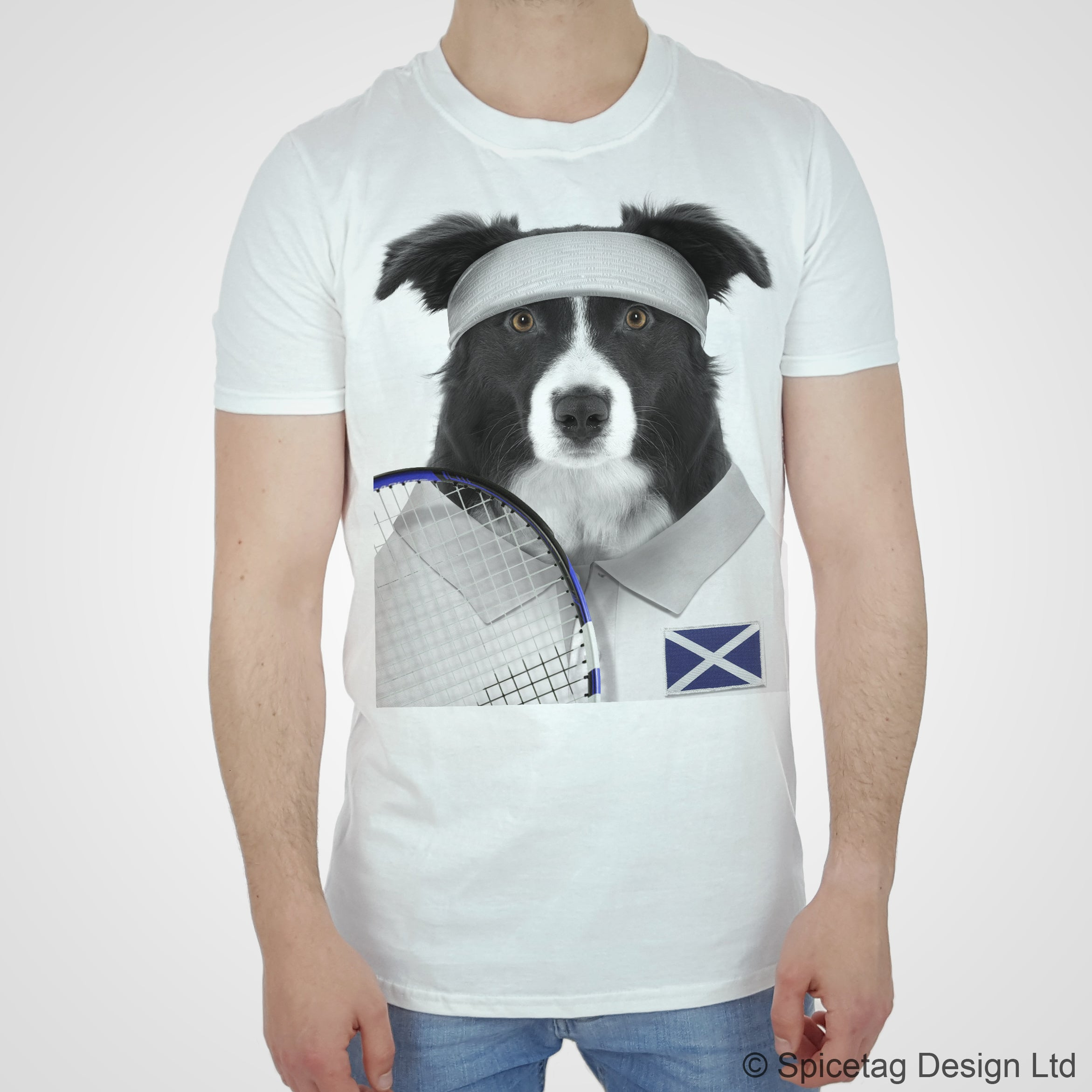Scotland Tennis Collie T-shirt