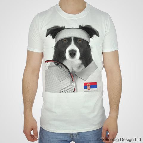 Serbia Tennis Collie T-shirt