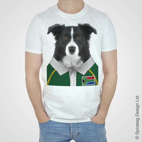 South Africa Rugby Border Collie T-shirt