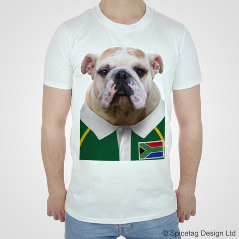 South Africa Rugby Bulldog T-shirt