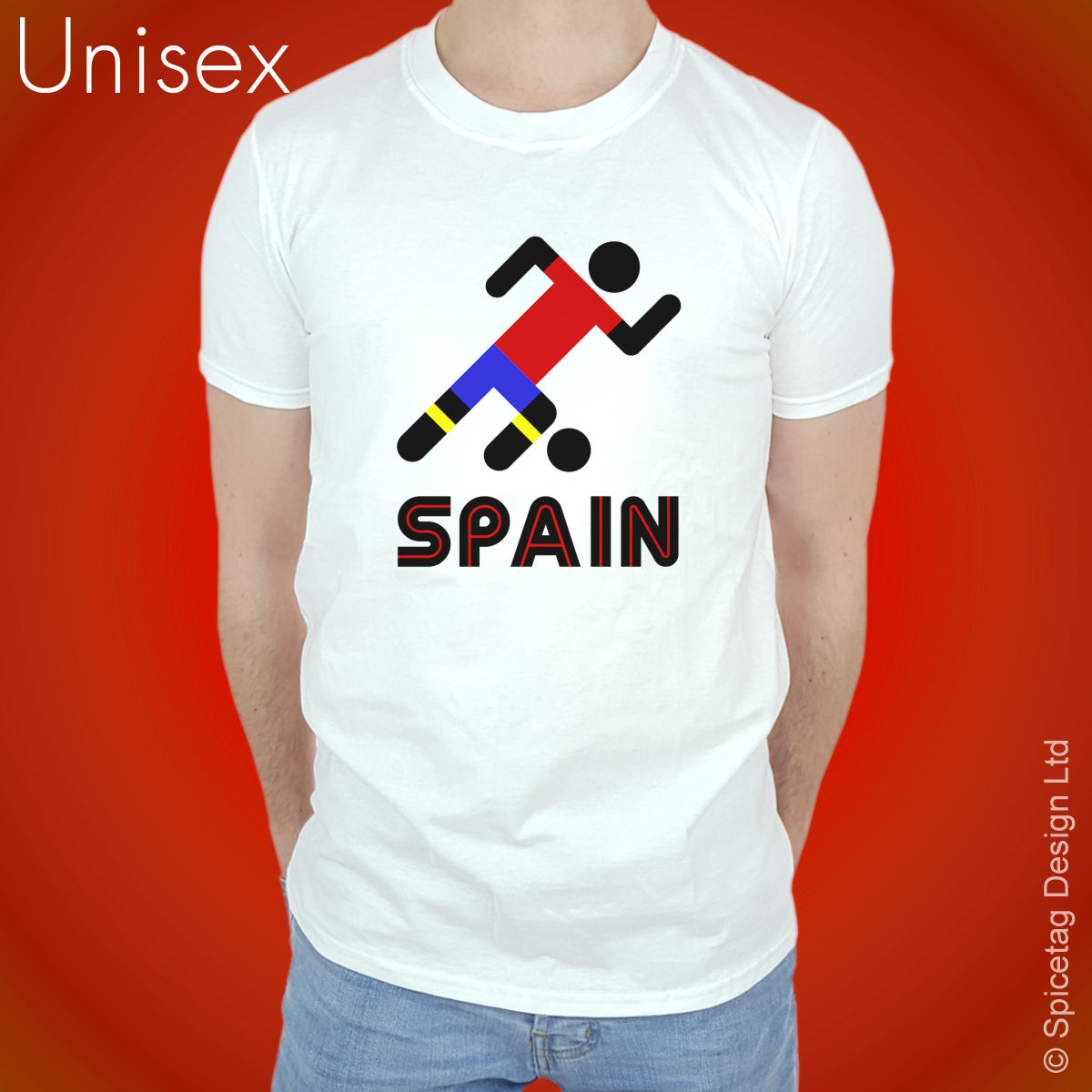 Spain Retro Football T-shirt