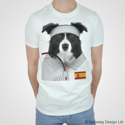 Spain Tennis Collie T-shirt