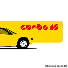 405 T16 Yellow Rally Car T-shirt
