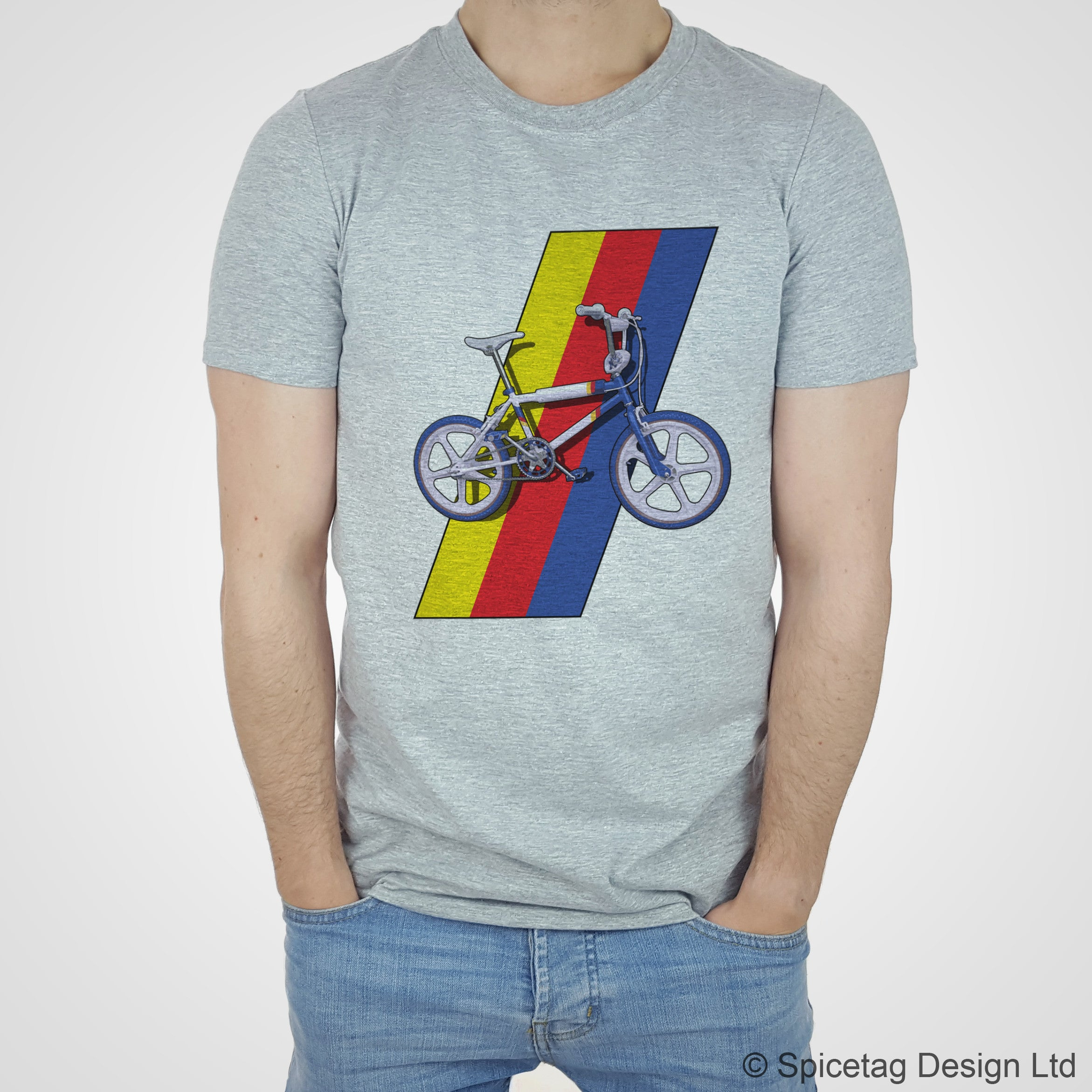 Spicetag BMX raleigh burner grifter 80s 1980s retro bike bicycle cycle cycling dirt cross T-shirt Tshirt T shirt Tee fashion style