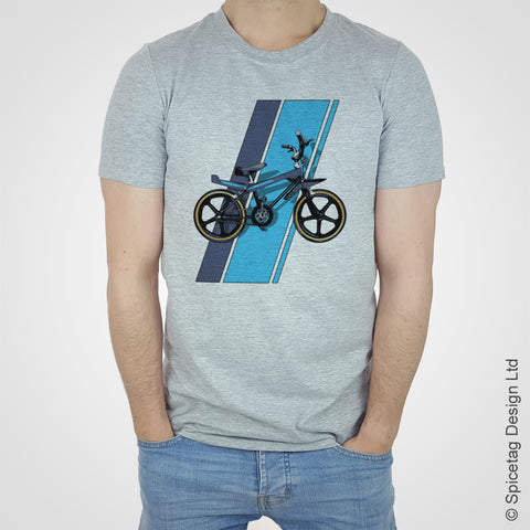 Spiectag wildcat BMX raleigh burner grifter 80s 1980s retro bike bicycle cycle cycling dirt cross T-shirt Tshirt T shirt Tee fashion style heather white