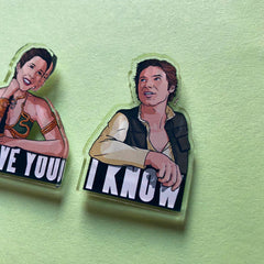I Love You Pin Badge Set