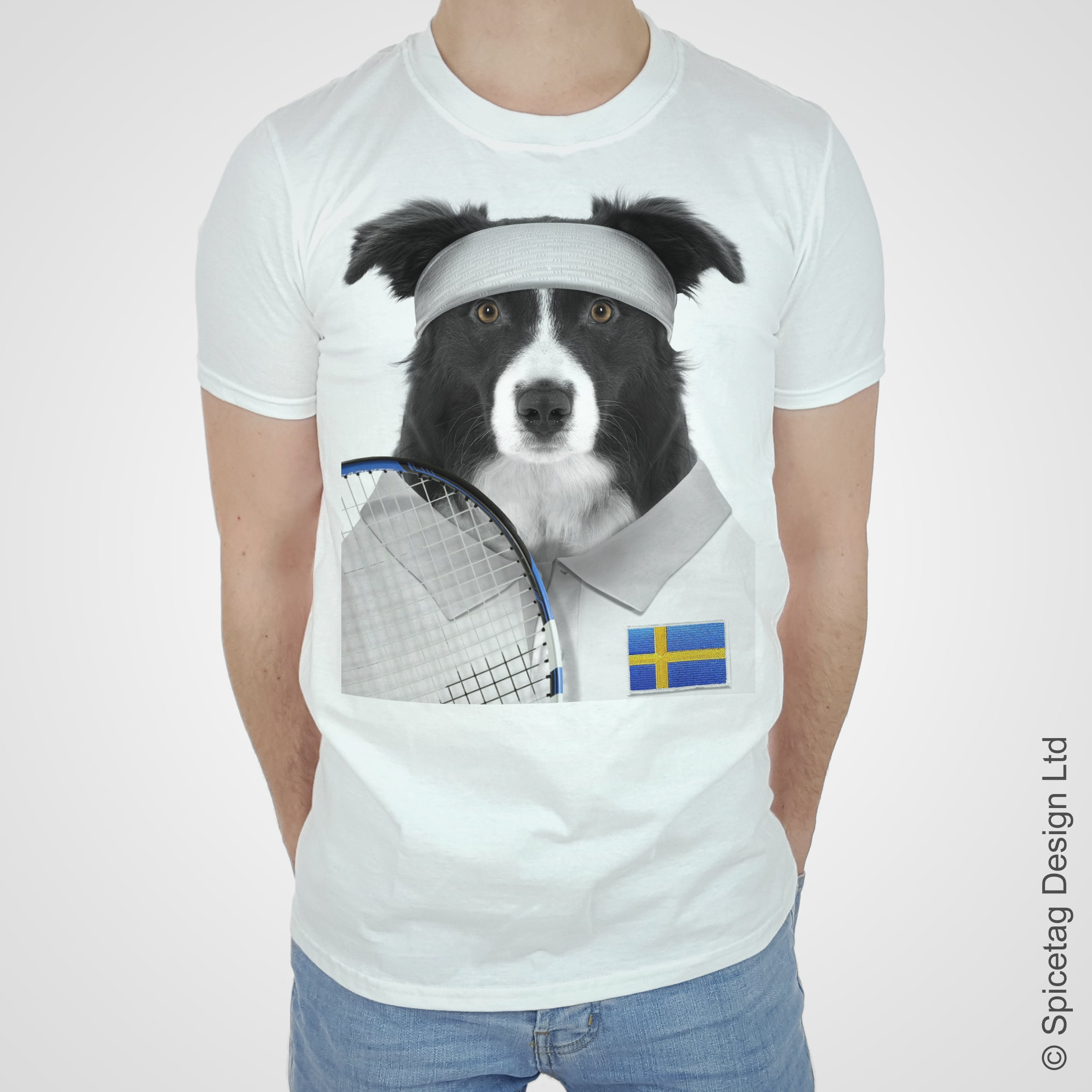 Sweden Tennis Collie T-shirt