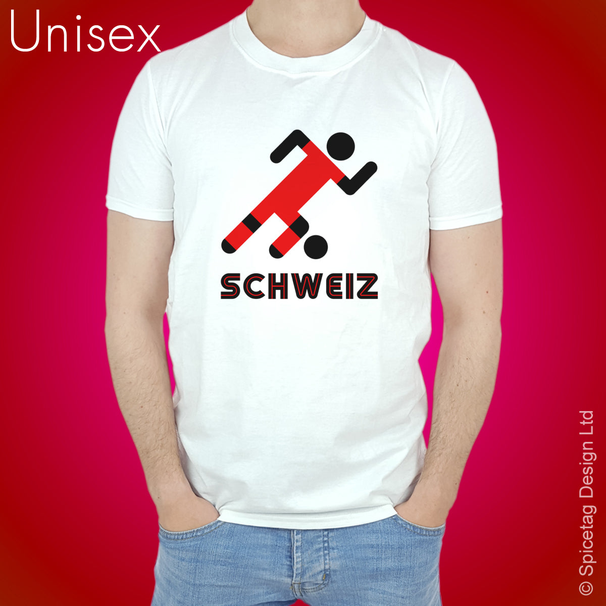 Switzerland Retro Football T-shirt