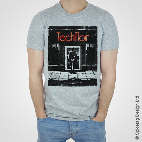 Tech noir terminator schwarzenegger 1984 movie film robot future sci fi classic action spicetag 80s 1980s T-shirt Tshirt T shirt Tee fashion style trend