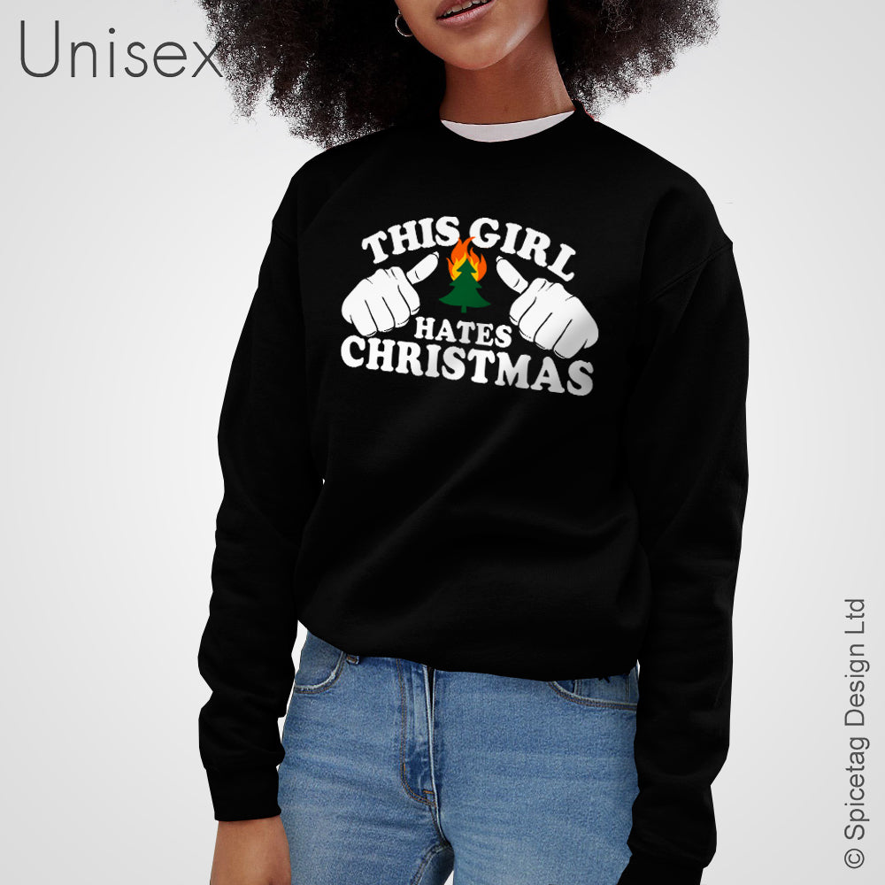 This Girl Hates Christmas Sweater