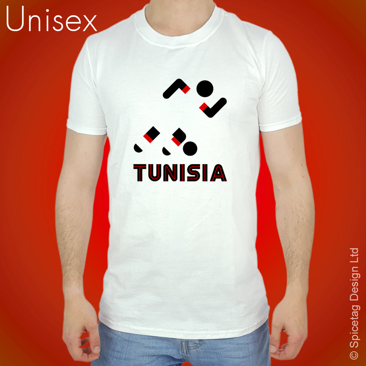 Tunisia Retro Football T-shirt