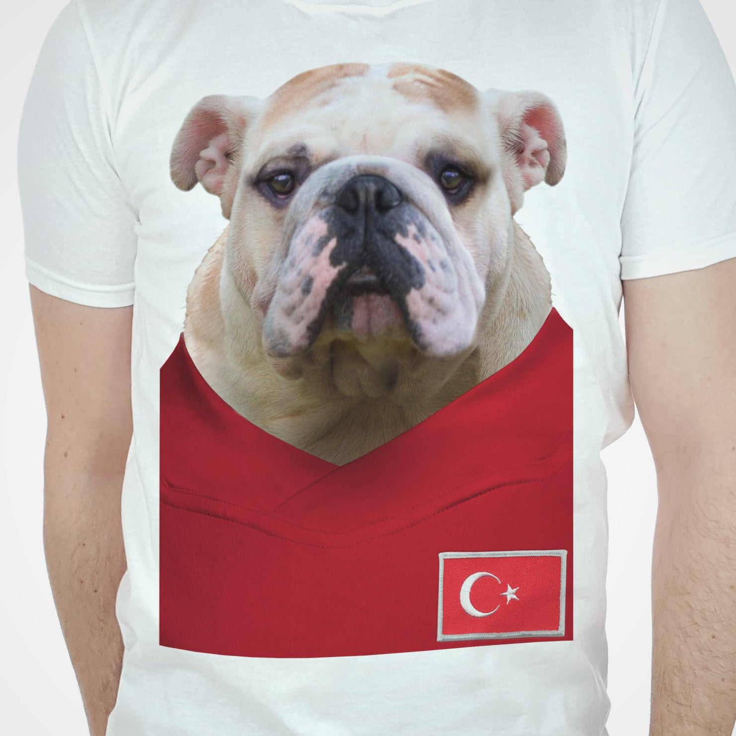 Turkey Football Bulldog T-shirt