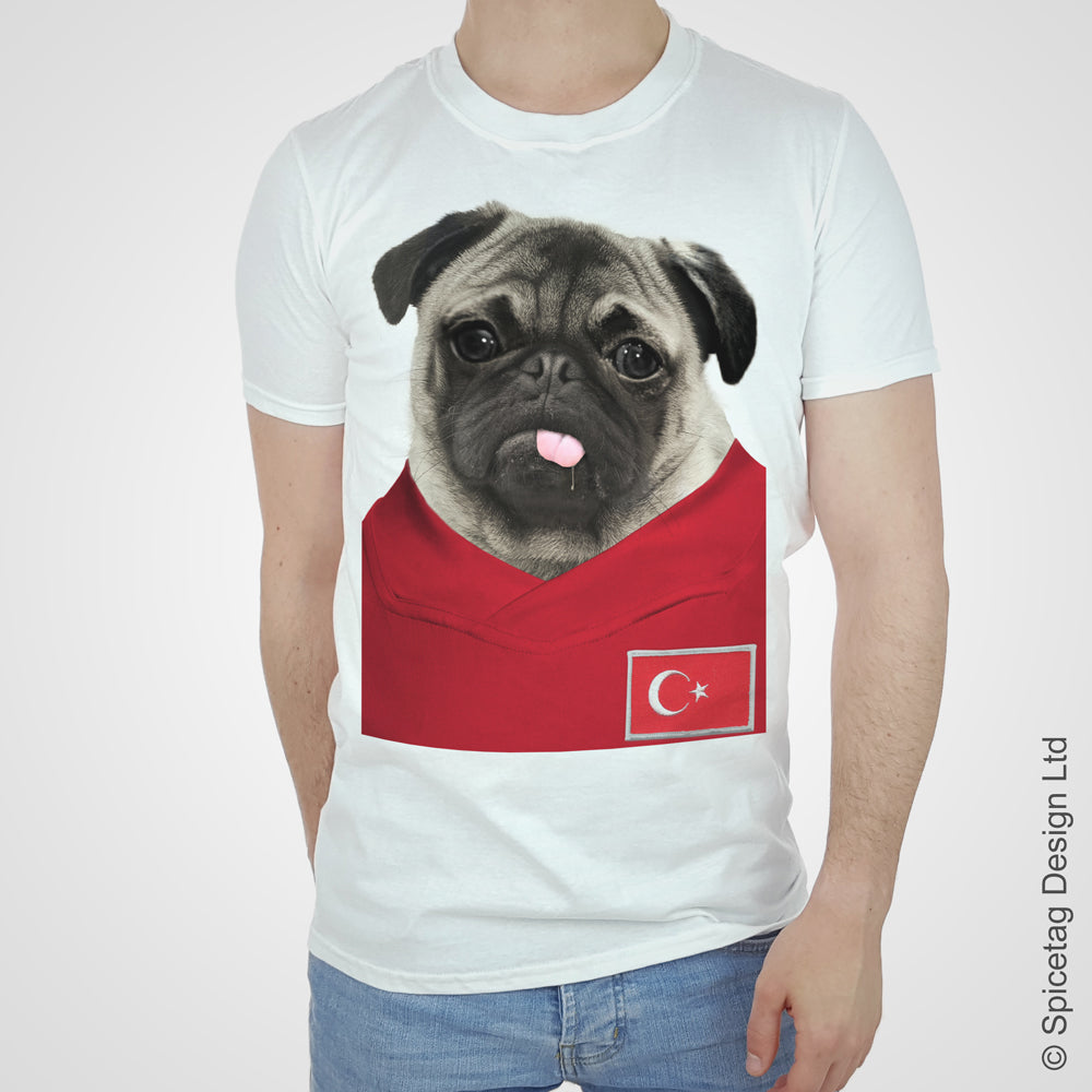Turkey Football Pug T-shirt