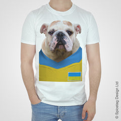 Ukraine Football Bulldog T-shirt