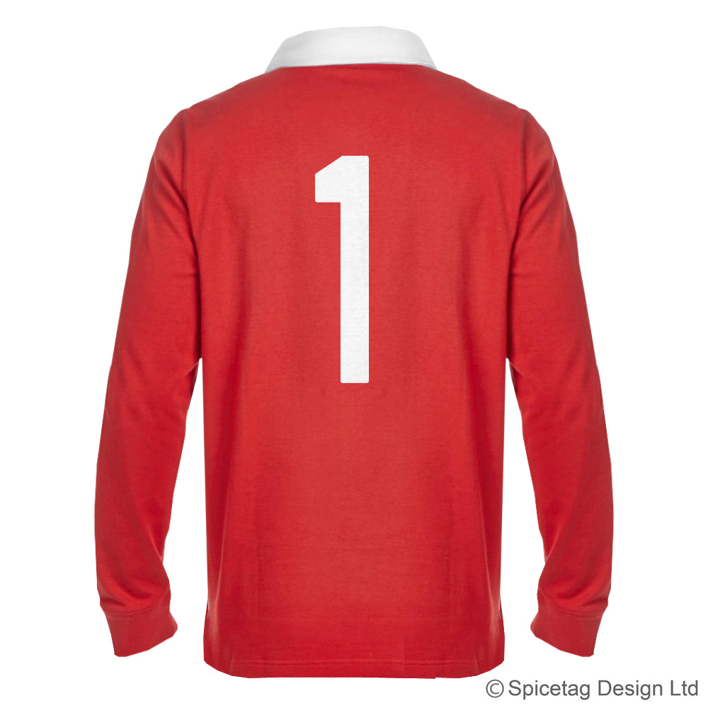 Wales welsh red 6 six nations rugby sweater sweatshirt top kit jumper jersey retro 70s 80s spicetag