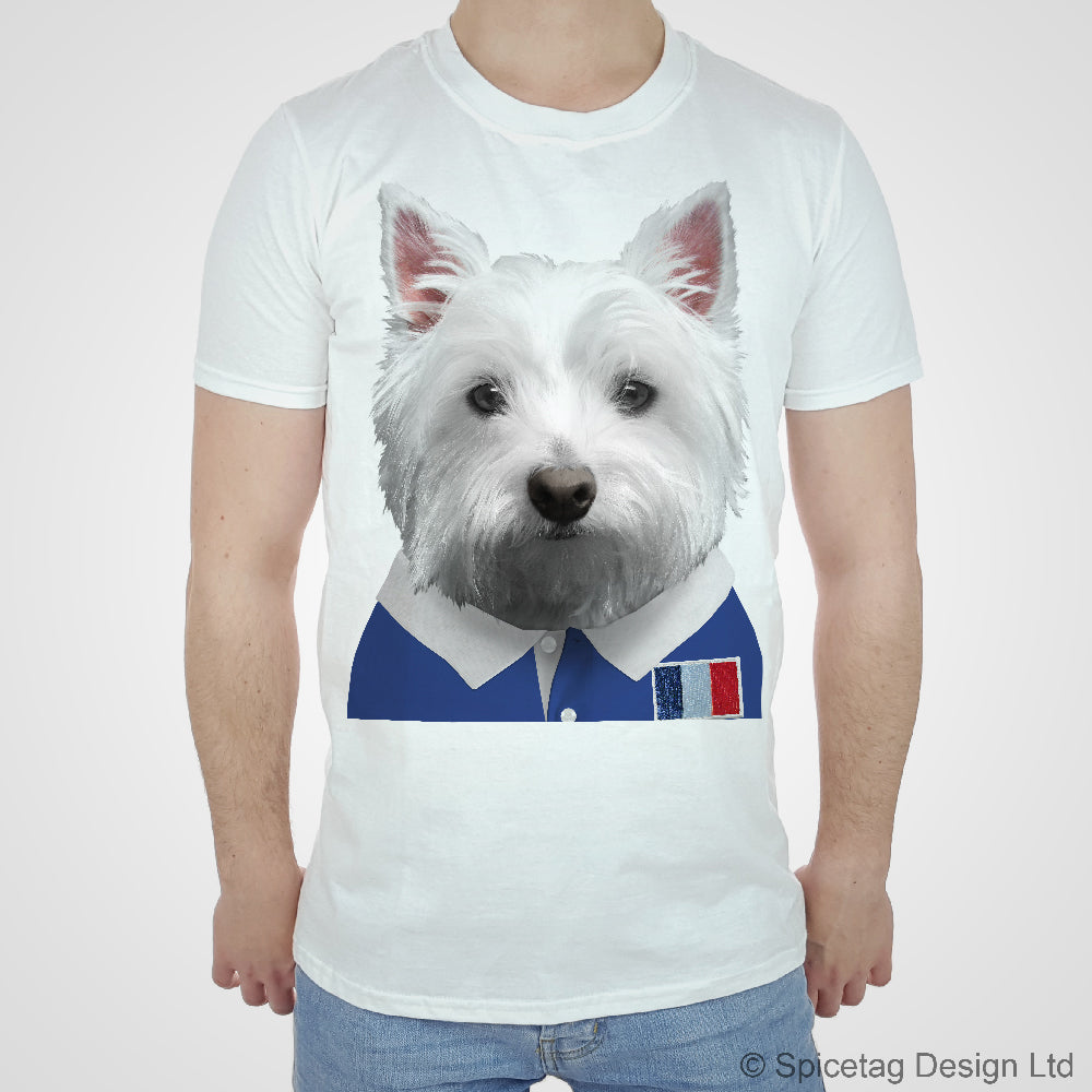 France Rugby Westie T-shirt