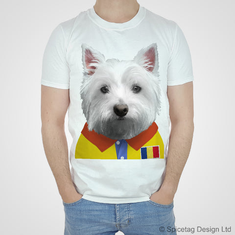 Romania Rugby Westie T-shirt
