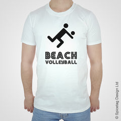 Beach volleyball ball T-shirt Tshirt T shirt Tee clothing clothes fashion style sport sports fan olympics athletics track field health fitness world competition champion