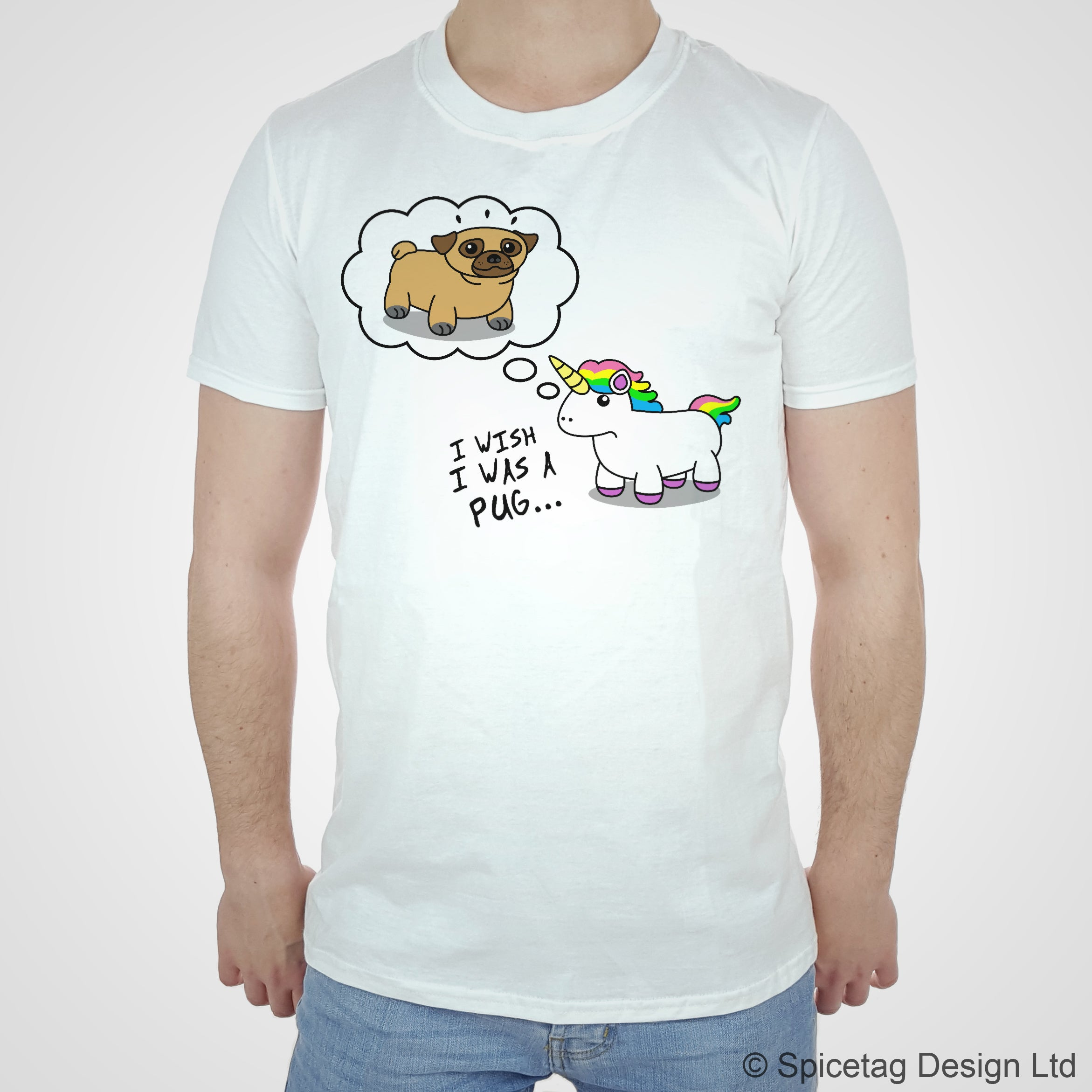 Pug Unicorn Wish T-shirt