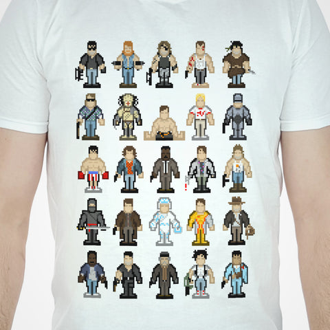 Action Movie Pixel T-shirt